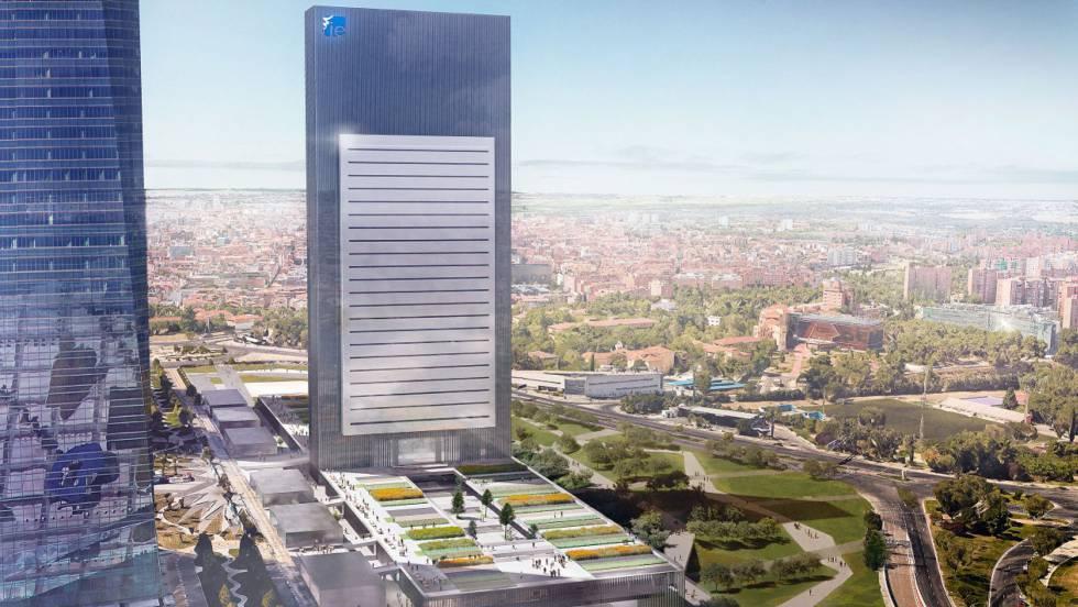 Torre Caleido Quinta Torre 5 Hospital Centro Comercial Villar Mir Castellana Madrid tower