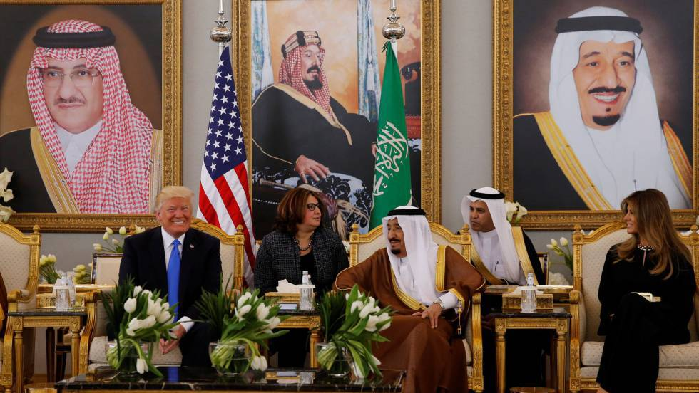 Resultado de imagen para Trump sella un acuerdo por armamento con Arabia Saudita