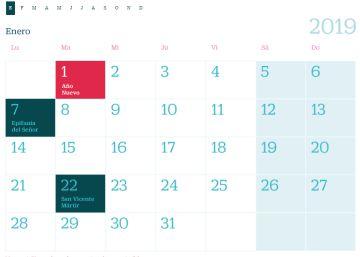 Calendario 2019 Castilla Y Leon.El Calendario Laboral De 2019 Tendra 14 Festivos Ocho Nacionales