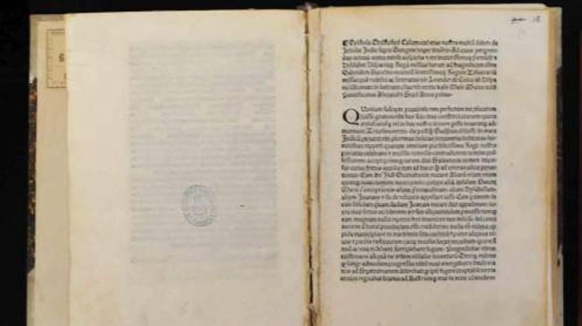 Carta original de Cristóbal Colón. EE UU entrega a Italia una carta de Colón contando el Descubrimiento