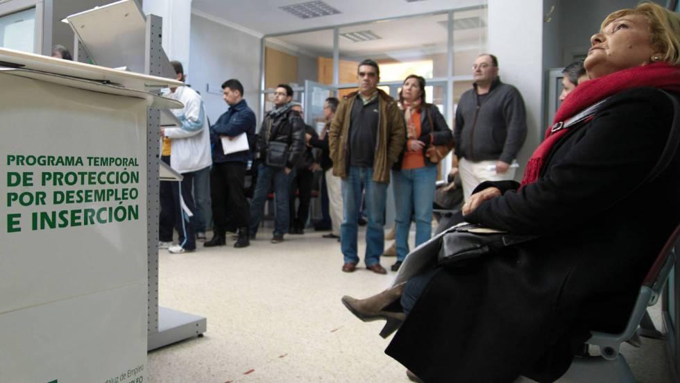Oficina del Servicio Andaluz de Empleo, en Bollullos de la Mitación (Sevilla). En vídeo, declaraciones del secretario de Estado de Empleo y Economía Social. P. PUENTES / VÍDEO: EUROPA PRESS