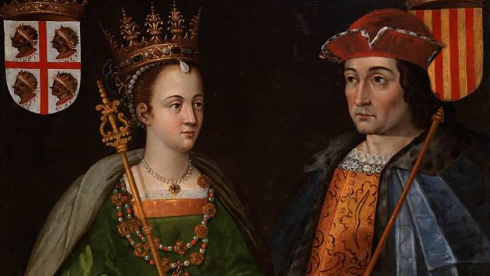Óleo 'Petronila Ramírez y Ramón Berenguer IV'. MUSEO DEL PRADO