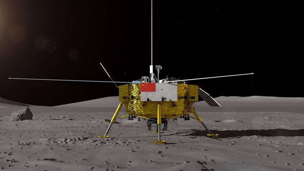Acontecimiento histórico, China aluniza en el lado oculto de la Luna 1546458733_245973_1546499136_noticia_fotograma