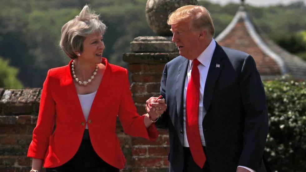 """Theresa May: """"Donald Trump me dijo que debería demandar a la UE"""" (univision.com)"""